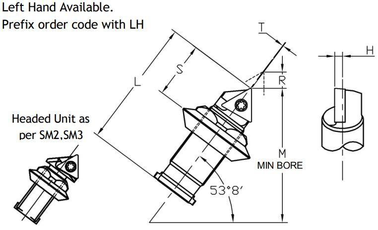 Microbore Sumitomo Electric Triangular Indexable Unit - Diagram 1