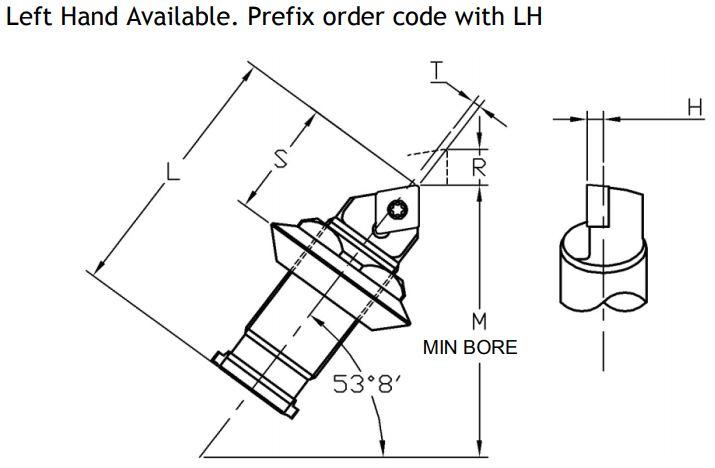 Sumitomo Electric ISO Rhomboid Indexable Unit - Diagram 1