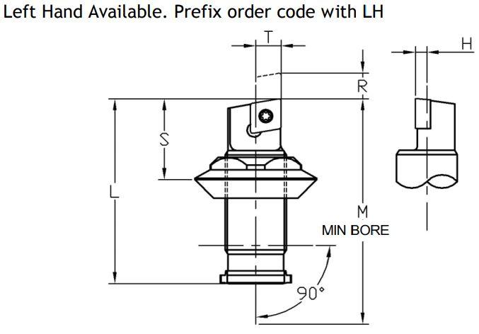 Sumitomo Electric ISO Rhomboid Indexable Unit - Diagram 2